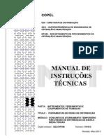 MIT 161612 Conjunto de Aterramento Temporário para Redes de Distribuição de BT e MT e tipos de estrutura