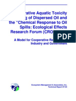 "Cooperative Aquatic Toxicity Testing of Dispersed Oil and the ""Chemical Response to Oil Spills Ecological Effects Research Forum (CROSERF)"""