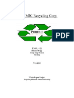 MJC Recycling Corp White Paper Project