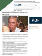 15-10-2013 'Reactivarán gestiones para que Reynosa-Río Bravo se integren en zona conurbada'