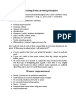 Fundamental Principles of Essay Writing