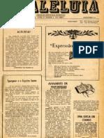 Jornal Aleluia número 1, janeiro de 1972