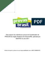 Prova Objetiva Coordenador Do Procon Prefeitura de Oliveira Mg 2011 Gestao