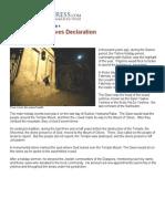 The Mount of Olives Declaration