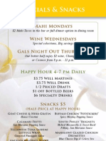 Libby's Cafe + Bar Happy Hour Menu