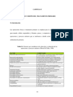 Análisis y diseño del tratamiento primario