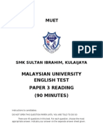 Front Page Exam Paper SMK SI