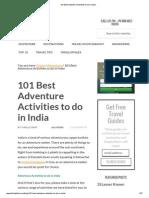 101 Best Adventure Activities to Do in India