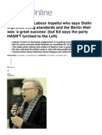 Andy Newman_ the Labour Hopeful Who Says Stalin Improved Living Standards and the Berlin Wall Was 'a Great Success' (but Ed Says the Party HASN'T Lurched to the Left) _ Mail Online