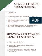 Provisions Relating to Hazardous Process
