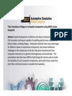 Simulation of Fatigue Composite Ncode to Post2