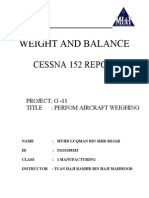 Weight and Balance Report