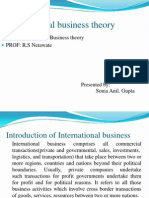 International Business Theory