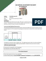 Affordable Senior Housing Unit Available