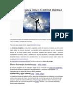 Eficiencia energética  COMO AHORRAR ENERGÍA