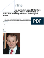 BBC Broadcaster Andrew Marr Says He Regrets Going Into Journalism _ Mail Online