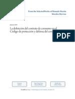 La definición del contrato de consumo en el Código de Protección y defensa del Consumidor_Rómulo Morales