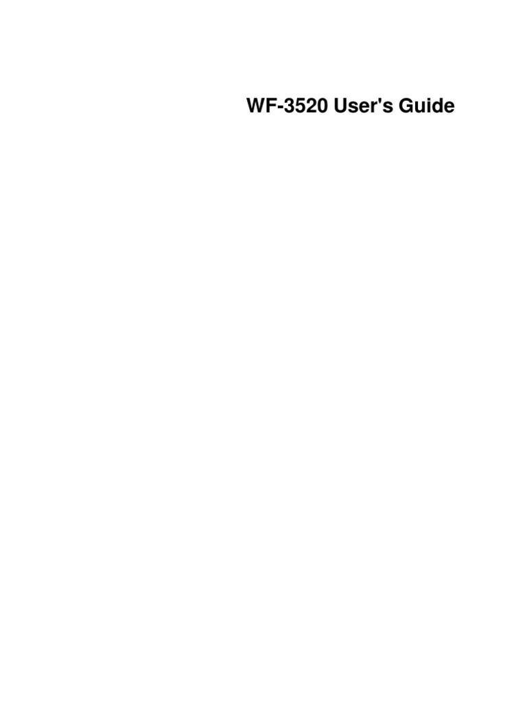 epson wf 3520 users guide image scanner fax rh es scribd com Epson WF-3520 Manual Epson WF-3520 Manual