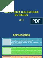 1ª CLASE OBSTETRICIA CON ENFOQUE DE RIESGO 2013
