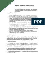 Examiner Tips for Igcse Physics 0625 (s04)