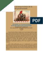 Crítica Marxista Leninista - Persistir en el arma teórica de la dictadura del proletariado