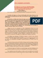Crítica Marxista Leninista - Plasari - La lucha de clases en el seno del Partido (1978)