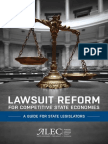 Lawsuit Reform for Competitive State Economies