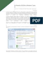 Configurações de Firewall e DCOM no Windows 7 para aplicações Elipse.