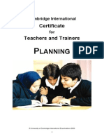 Cambridge Certificate for teachers and trainers booklet