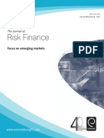 The Journal of Risk Finance. Focus on Emergng Markets (2007, Vol. 8 No. 4)