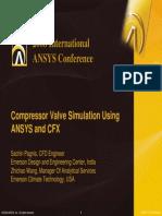 Compressor Valve Simulation Using ANSYS and CFX