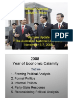 Thayer Vietnam Political Developments in 2008