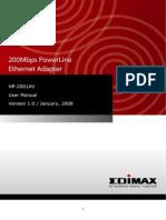 HP 2001AV Manual
