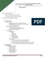 Vantage Point Computing Project Summary