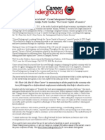 CareerUnderground Press Release