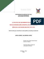 93857307 Jose Calderon La Politica Del MIR Al Inicio de La Dictadura 1973 1975 Chile