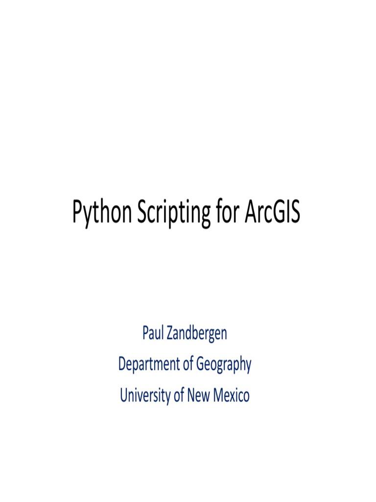 Python Scripting 2011 | Arc Gis | Python (Programming Language)