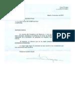 Respuesta de la Presidencia del Gobierno Español a la petición de ordenación del Paisajismo