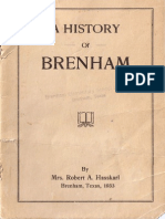 History of Brenham