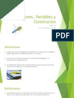 Definiciones, Variables y Constructos(1)