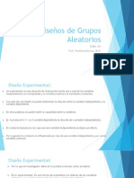 DISEÑO DE GRUPOS ALEATORIOS(1)