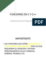 FUNCIONES EN C Y C++