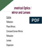Lecture Notes 7- 203 Optics
