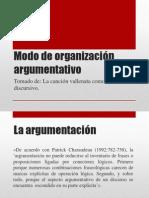 Modo de Organizacion Argumentativo