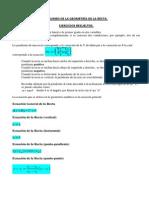 Resumen de La Geometrc3ada de La Recta