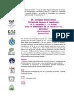 Convocatoria Congreso Panamá 2013