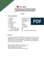 Syllabus_economia Aplicada a La Salud