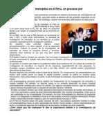 La investigación de mercados en el Perú
