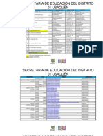 Datos Colegios Distritales de Bogota d.c