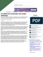 Os direitos do consumidor nas vendas eletrônicas (Matérias)